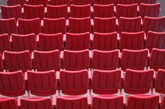 Red Seats. Rows of empty red seats Stock Photography