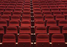 Red seats royalty free stock photo