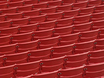 Red seats. Theater seats in Millenium Park in Chicago Royalty Free Stock Photos