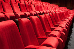 Red seats. Empty red seats for cinema, theater, conference or concert Royalty Free Stock Photography