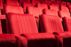 Red seats. Empty red seats for cinema, theater, conference or concert Royalty Free Stock Images