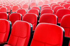 Red seats in the cinema Royalty Free Stock Photography