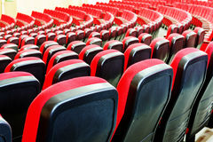 Red seats in the cinema Royalty Free Stock Image