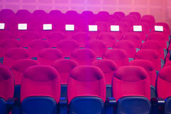 Red seats. At a concert hall Stock Images