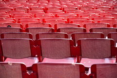 Red seats outdoors Royalty Free Stock Photos