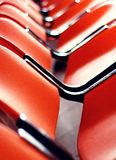 Red seats in a row Royalty Free Stock Images
