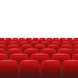 Red seats with screen Royalty Free Stock Photo