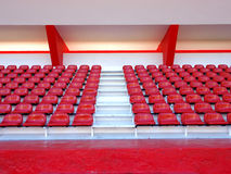 red seats in stadium Royalty Free Stock Photos