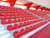 red seats in stadium Royalty Free Stock Photography
