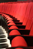 Red seats in a theater Stock Photo