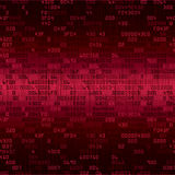 Red security background with HEX-code Royalty Free Stock Photography