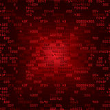 Red security background with HEX-code Royalty Free Stock Photos