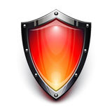 Red security shield royalty free illustration