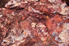 Red sedimentary rock texture background stock photos