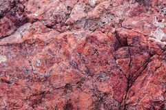 Red sedimentary rock texture background. Royalty Free Stock Image