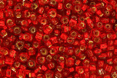 Red Seed Beads Royalty Free Stock Images