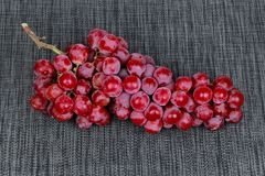 Red seedless grapes,The red grape seeds and galling. Stock Image