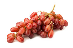 Red seedless table grapes. Isolated on white background royalty free stock photography