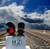 Red semaphore Stock Image