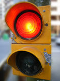 Red Semaphore. Red light in a pedestrian semaphore of the city Stock Photography