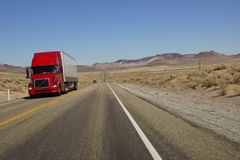 Red semi trailer Royalty Free Stock Image