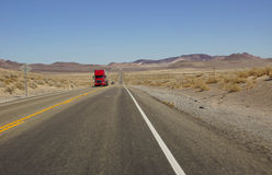 Red semi trailer Stock Image