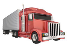 Red Semi Truck 18 Wheeler Big Rig Hauler Royalty Free Stock Images