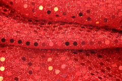 Red sequin background Royalty Free Stock Image