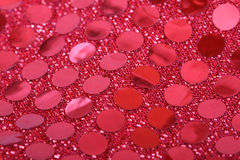 Red Sequin II Stock Photography