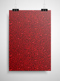 Red sequin poster on the wall. Eps 10. Royalty Free Stock Photos
