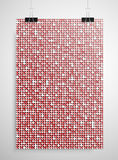 Red sequin poster on the wall. Eps 10. Stock Image
