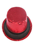 Red sequin stage show top hat Royalty Free Stock Photography