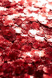Red sequins Royalty Free Stock Photography