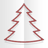 Red Sequins Christmas Tree. Winter. New Year. Royalty Free Stock Photography