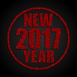Red Sequins New 2017 Year. Star. Circle. Stock Photos