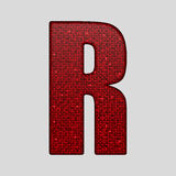 Red sequins sings. Sequins alphabet. Eps 10. Royalty Free Stock Image
