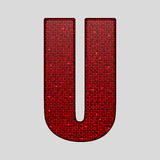 Red sequins sings. Sequins alphabet. Eps 10. Stock Image
