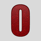 Red sequins sings. Sequins alphabet. Eps 10. Royalty Free Stock Photography