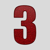 Red sequins sings. Sequins alphabet. Eps 10. Royalty Free Stock Photos