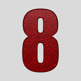 Red sequins sings. Sequins alphabet. Eps 10. Royalty Free Stock Photo