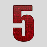 Red sequins sings. Sequins alphabet. Eps 10. Stock Photos