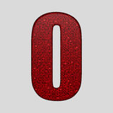 Red sequins sings. Sequins alphabet. Eps 10. Stock Photography