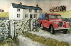Red Series 1 Landrover Royalty Free Stock Photo