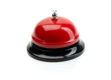 Red service bell. Red and black Service bell ring on a white background Royalty Free Stock Photos