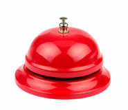 Red service bell. On white background Stock Photo