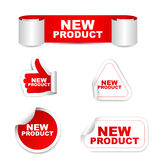 Red set  paper stickers new product Stock Photos