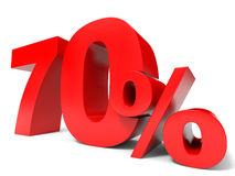Red seventy percent off. Discount 70%. 3D illustration Stock Photos