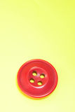 Red Sewing Button Royalty Free Stock Photography