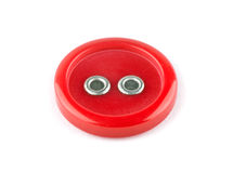 Red sewing button Royalty Free Stock Image