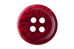 Red sewing button macro Royalty Free Stock Image